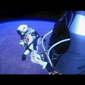 A man falling from space to the Earth surface: Live telecast by NASA